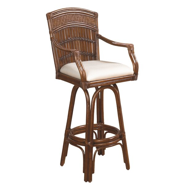 Hutchinson Island South 30 Swivel Bar Stool by Beachcrest Home