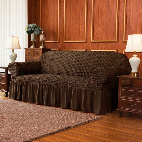 Ruffle Skirt Country Style Box Cushion Sofa Slipcover By Winston Porter