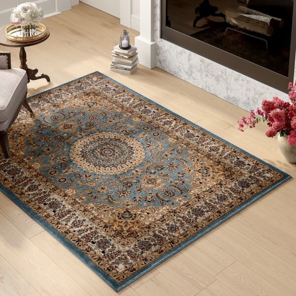 Heather Brown/Blue Area Rug by Fleur De Lis Living