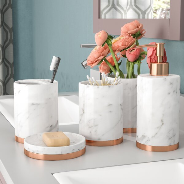 Jeb Bathroom Accessory Set (Set of 5) by The Twill