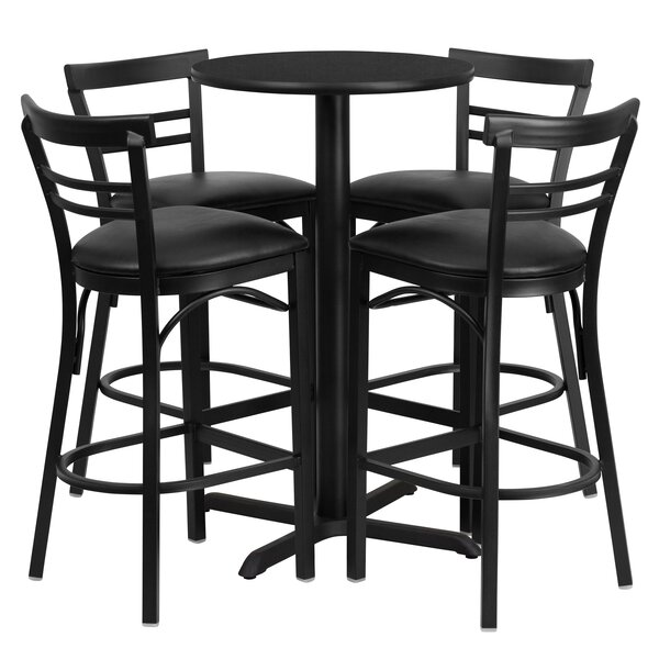 Brodeslavy 5 Piece Pub Table Set By Latitude Run Reviews