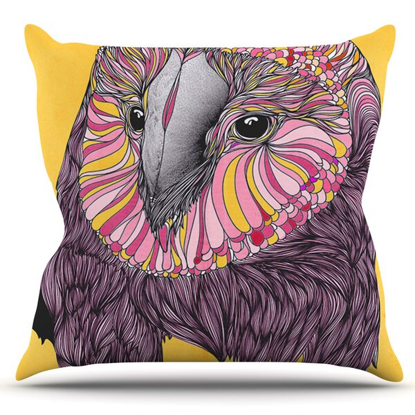 Lovely Owl by Danny Ivan Outdoor Throw Pillow by East Urban Home