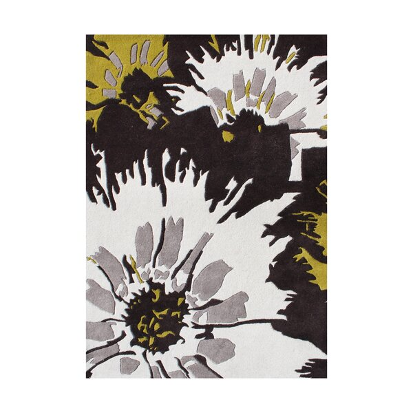 Pittsburg Hand-Tufted Black/White Area Rug by The Conestoga Trading Co.