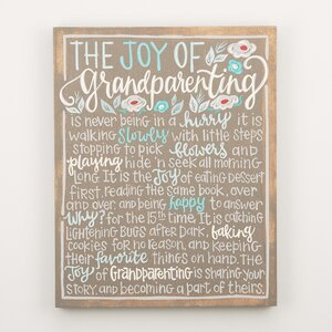 'Joy of Grandparenting' Textual Art on Wood by Glory Haus