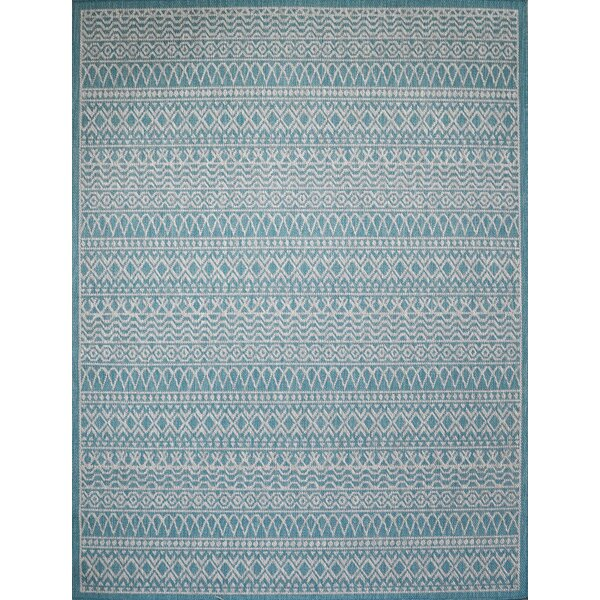 Starr Turquoise Indoor/Outdoor Area Rug by Union Rustic