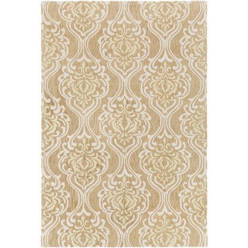 Bastien Hand-Hooked Beige/Ivory Area Rug by One Allium Way