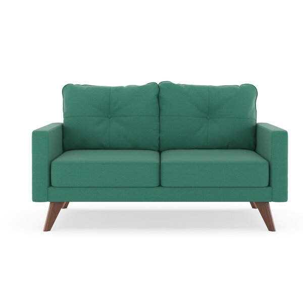 Home & Outdoor Coyer Oxford Weave Loveseat