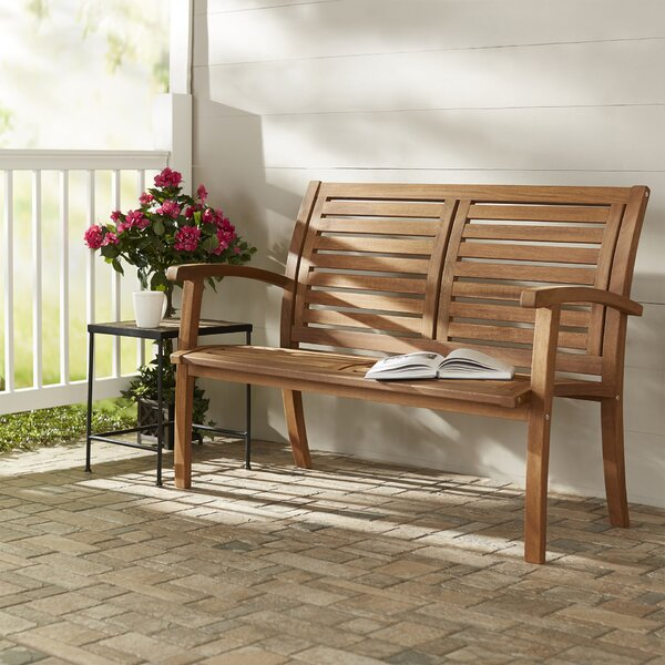 Roseland Eucalyptus Garden Bench by Beachcrest Home