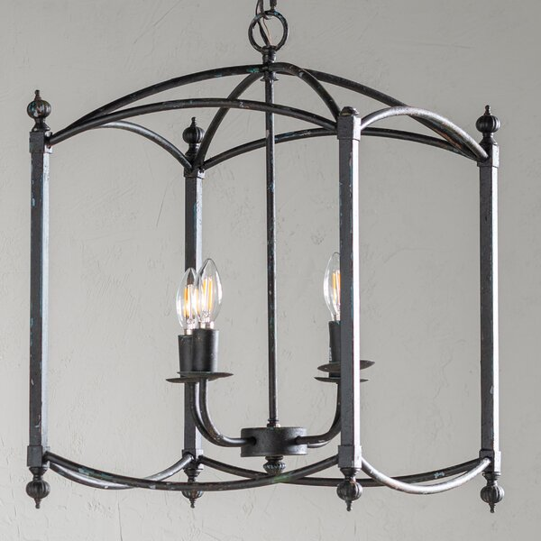 Palazzolo 4 - Light Lantern Square Chandelier By Canora Grey