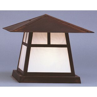Coupon Carmel Outdoor 1-Light Pier Mount Light By Arroyo Craftsman