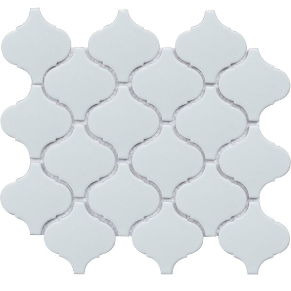 Value Series Arabesque 2.9 x 3 Porcelain Mosaic Tile in Glossy White by WS Tiles