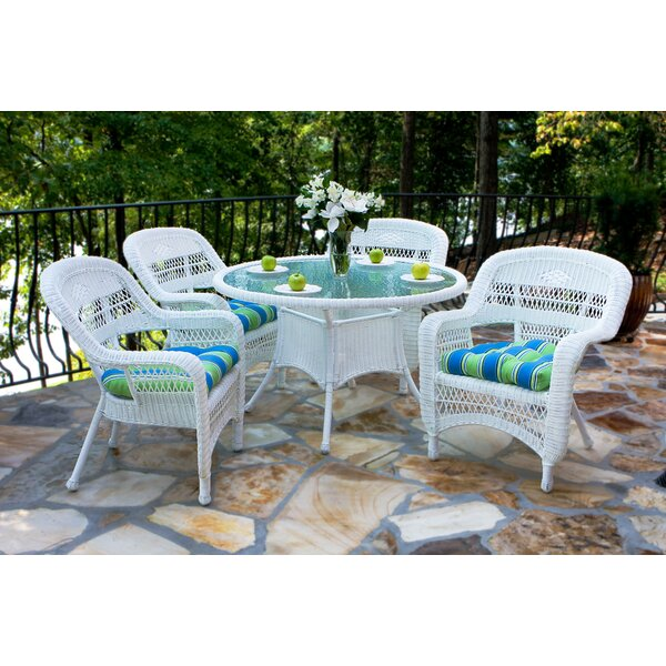 Baden 5 Piece Dining Set with Cushions by Three Posts