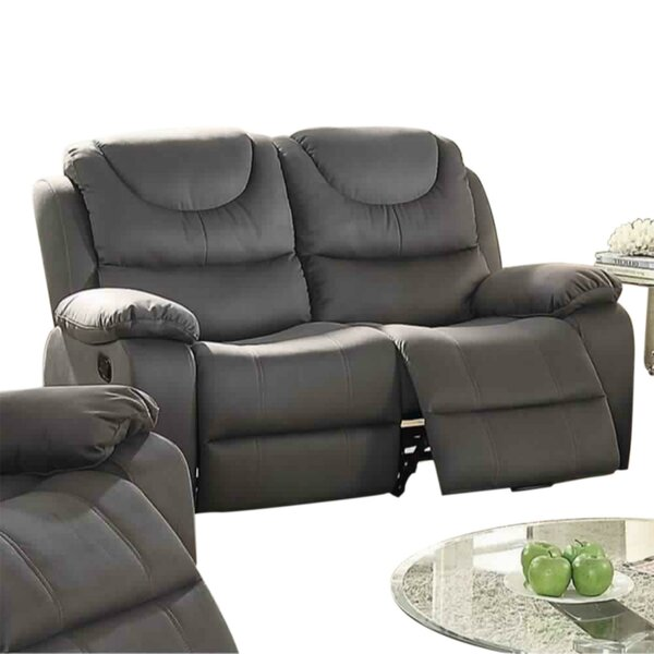 Get Valuable Paramus Breathable Reclining Loveseat by Winston Porter by Winston Porter