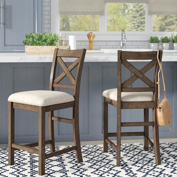 Hillary Bar Stool (Set of 2) by Laurel Foundry Modern Farmhouse