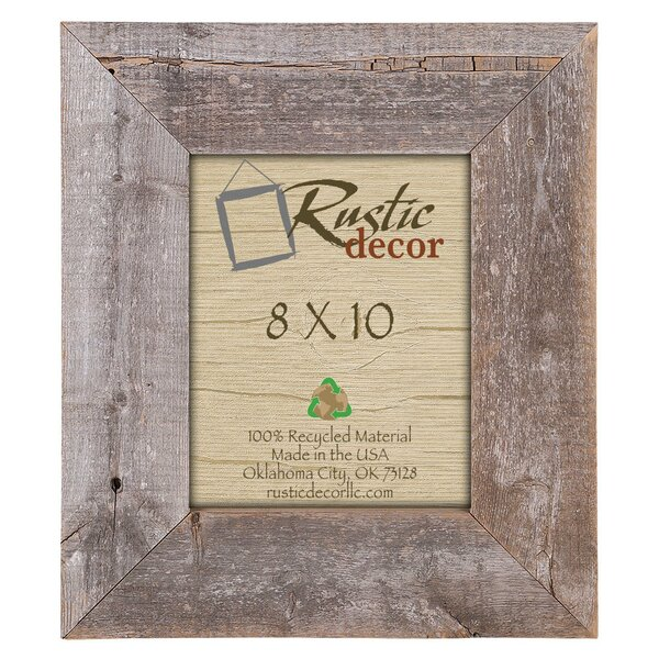 Alysa Barn Wood Reclaimed Wood Extra Wide Wall Picture Frame by Mistana