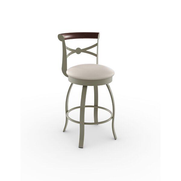 Library Luxe Style 29.75 Swivel Bar Stool by Amisco