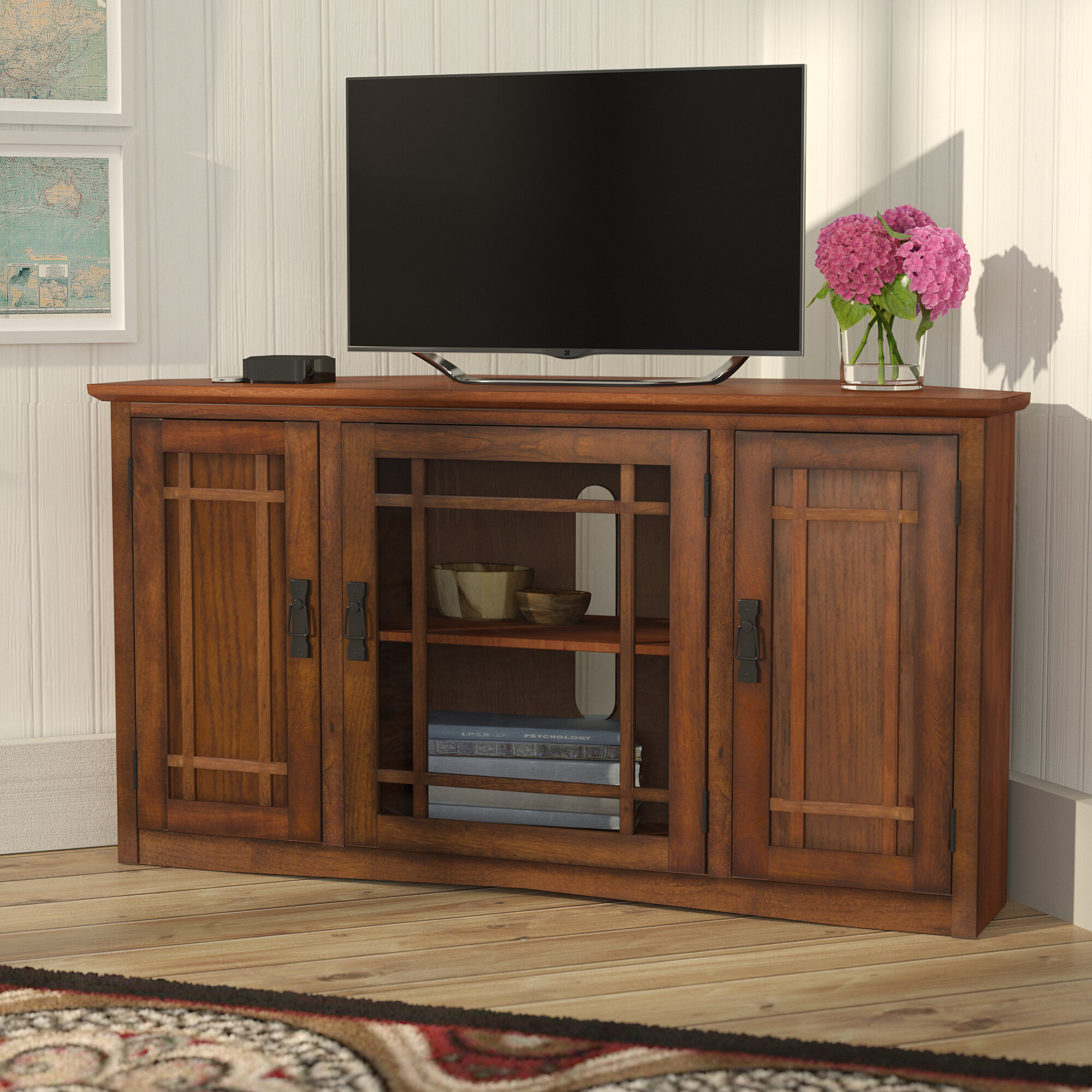 huge discount 4e0c4 a5a46 Charlton Home Stodeley Corner TV Stand for TVs up to 50 ...