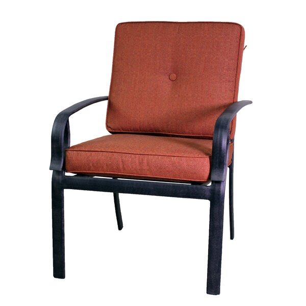 Waynesburg Patio Dining Chair with Cushion (Set of 2) by Red Barrel Studio