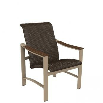 Brazo Woven Patio Dining Chair by Tropitone