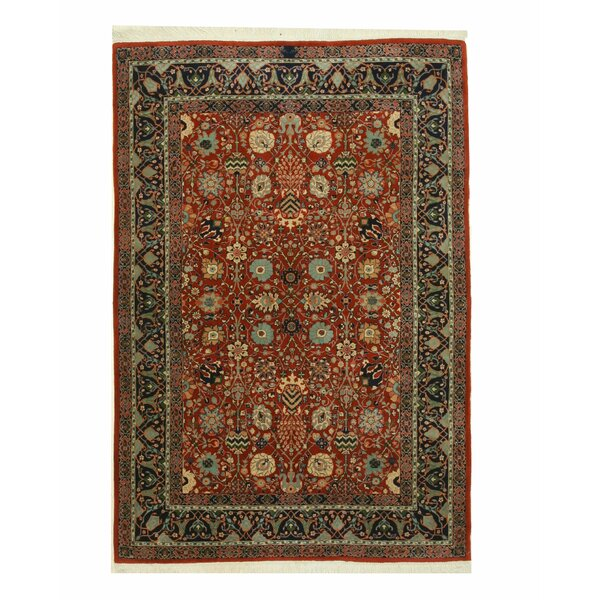Indo-Moghul Hand-Knotted Rust Area Rug by Eastern Rugs