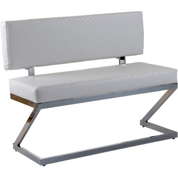 Levin Leather Bench by Orren Ellis