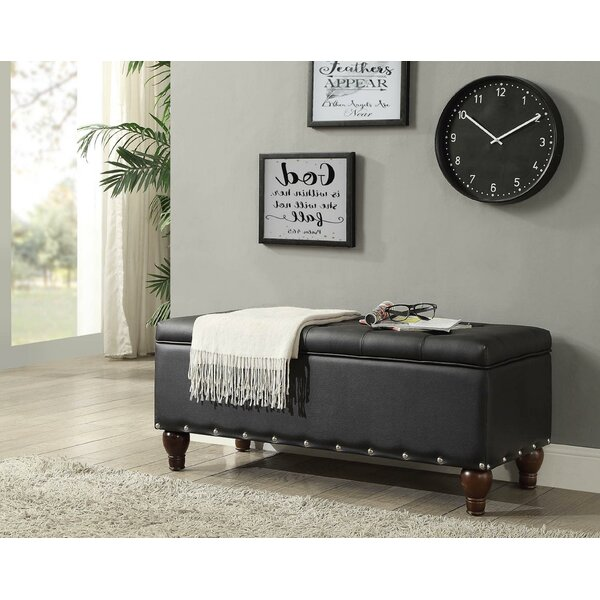 Soderlund Faux Leather Flip Top Storage Bench By Canora Grey