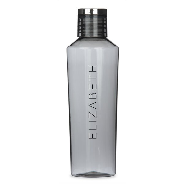 Stallworth Personalized Vertical Line 27 oz. Plastic Water Bottle by Ebern Designs