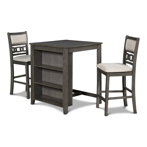 Jackins 3 - Piece Solid Wood Dining Set By Winston Porter