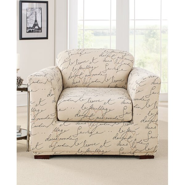 Stretch Pen Pal By Waverly Box Cushion Armchair Slipcover By Sure Fit