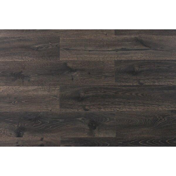 Aditya 8 x 72 x 11.93mm Oak Laminate Flooring in Frenzy Charcoal by Serradon