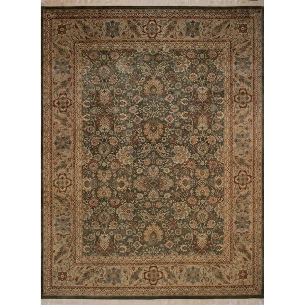 Canning Persian Hand-Knotted Wool Brown/Green Area Rug by Fleur De Lis Living