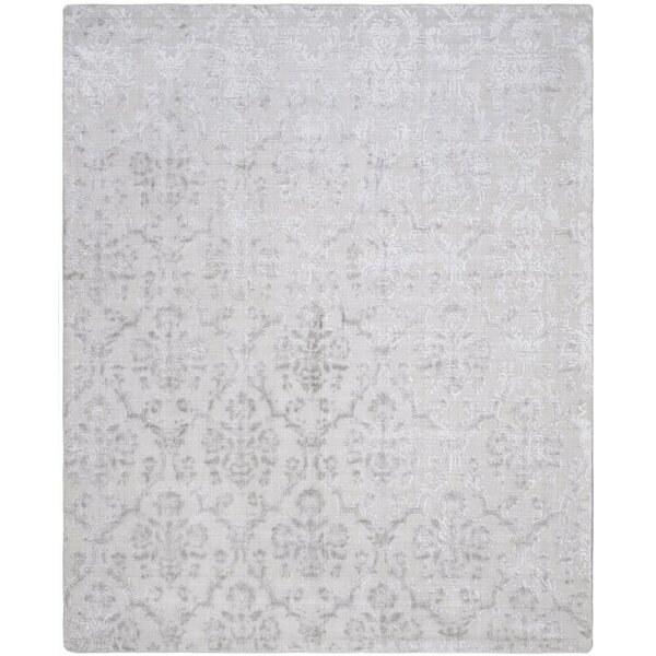 Jessup Hand-Loomed Silver Area Rug by Gracie Oaks