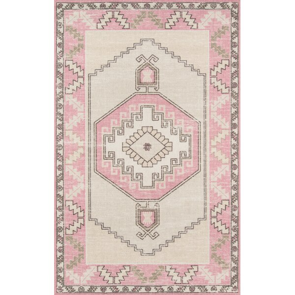 Moyer Indoor Pink Area Rug by Union Rustic