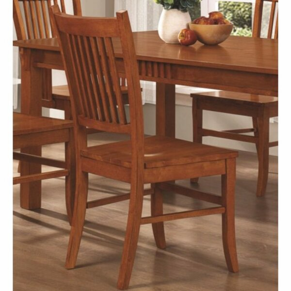 Kangas Slat Back Mission Solid Wood Dining Chair (Set of 2) by Winston Porter