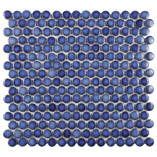 Penny 0.8 x 0.8 Porcelain Mosaic Tile in Sapphire by EliteTile