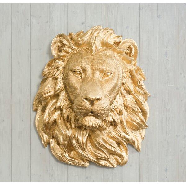 Saharan Faux Taxidermy Lion Head Wall Décor by Wall Charmers