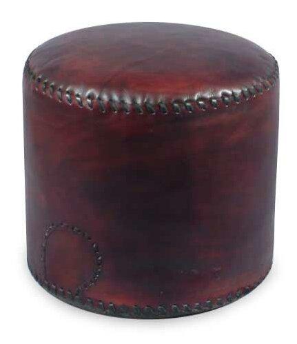 'Litoral Coffee' Box Cushion Ottoman Slipcover by Novica