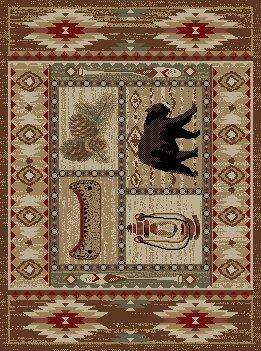 American Destinations Brown Area Rug by Mayberry Rug
