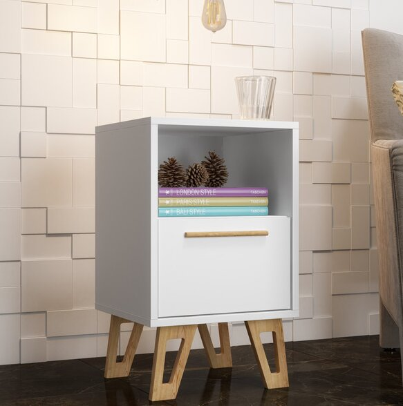 Corey 1 Drawer Nightstand by George Oliver