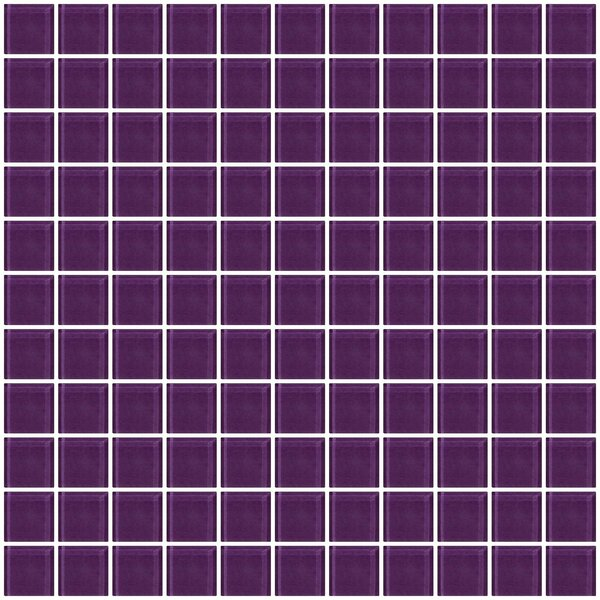1 x 1 Glass Mosaic Tile in Lavender Purple by Susan Jablon