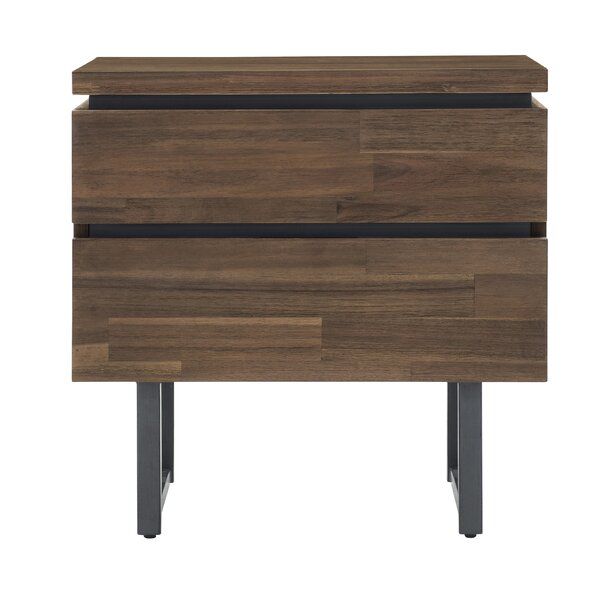 Kips Bay 2 Drawer Nightstand by Union Rustic