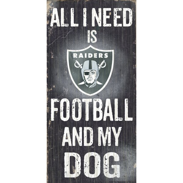 NFL Football and My Dog Textual Art Plaque by Fan Creations