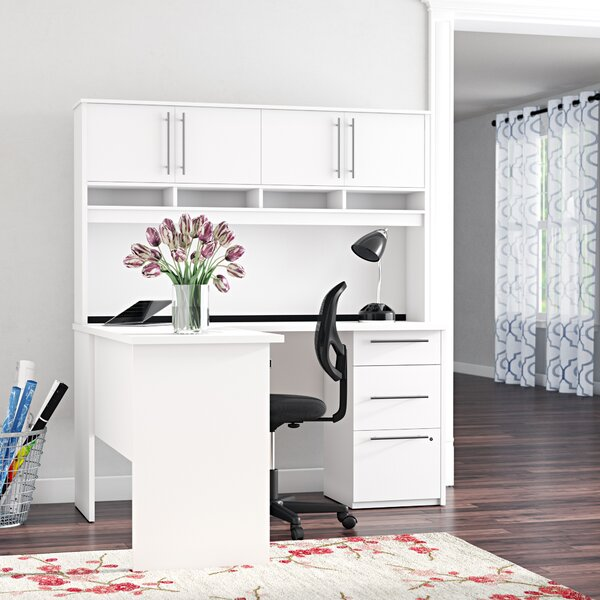 Altha Reversible L-Shaped Desk with Hutch