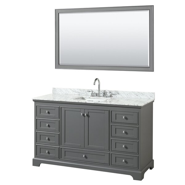 Deborah 60 Single Bathroom Vanity Set with Mirror by Wyndham Collection