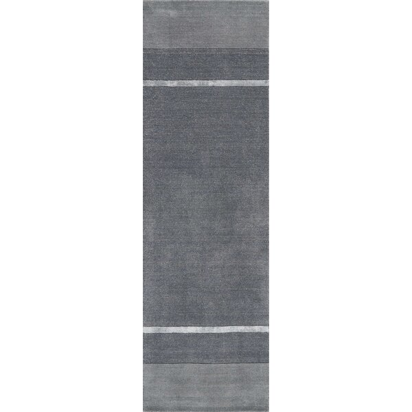 Vale Hand-Knotted Wool Gray Area Rug