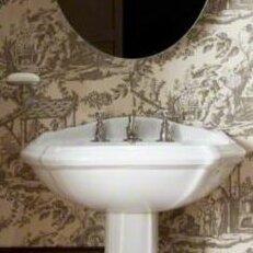 Kohler Portrait Pedestal Sink.Portrait Ceramic 27 Pedestal Bathroom Sink With Overflow