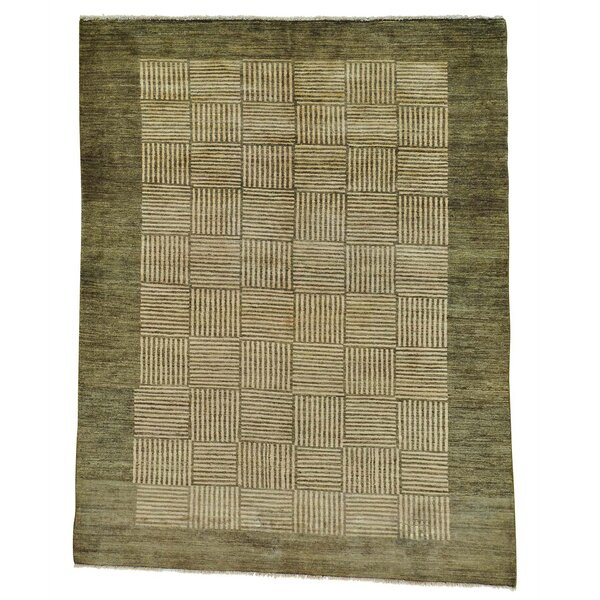 One-of-a-Kind Rossman Modern Hand-Knotted Beige Area Rug by Loon Peak