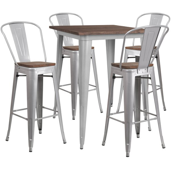Prins 5 Piece Pub Table Set by Williston Forge