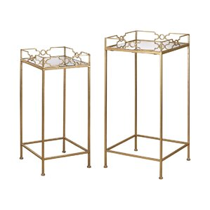 2 Piece Bow Tie End Table Set by House of Hampton