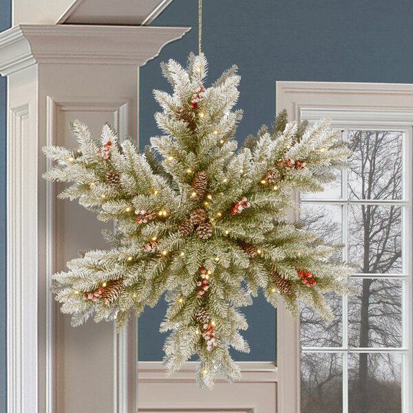 Double Sided 32 Snowflake/Fir Wreath by Gracie Oaks